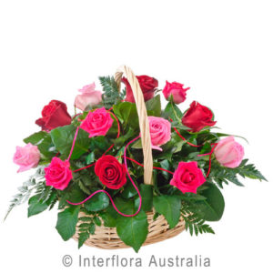 basket of roses..$140