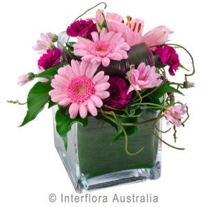 low arrangement in vase..$65